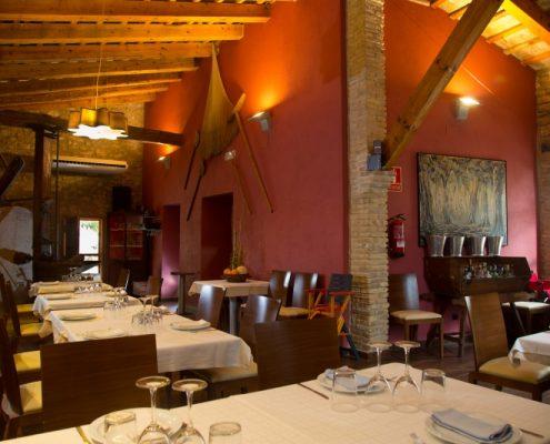 restaurant de Mas Masdeu, allotjament rural al delta de l'Ebre